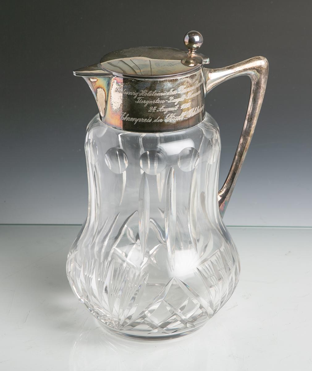 """Lot 15 - Schenkkanne sog. """"Kalte Ente"""" (20. Jahrhundert), klares Glas m. versch."""