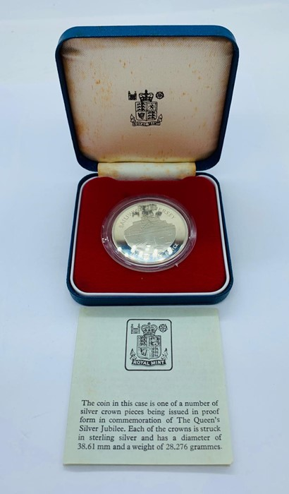 Lot 8 - A Silver Proof Balliwick of Jersey Twenty Five Pence coin