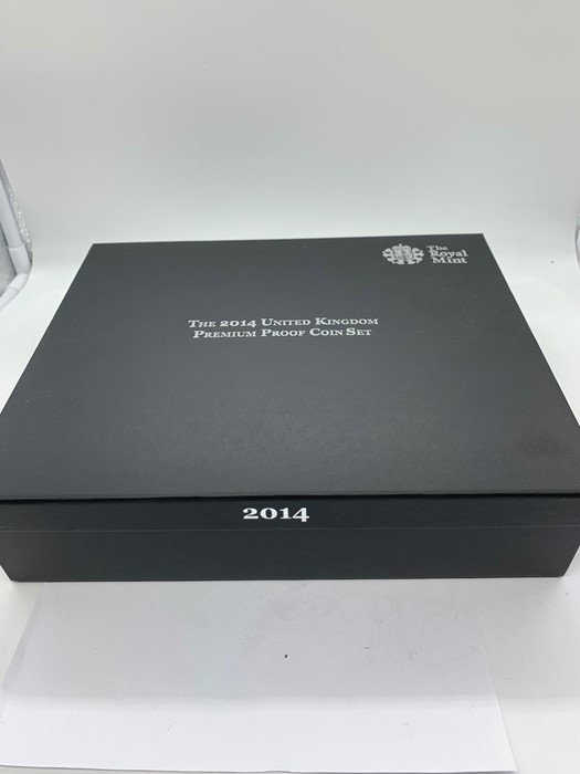 Lot 21 - The 2014 Royal Mint United Kingdom Premium Proof Coin set