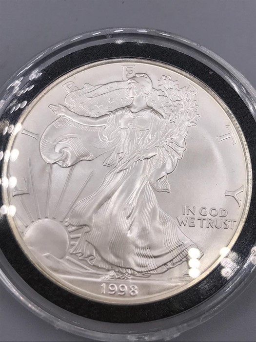 Lot 50 - United States of America I ounce silver proof One Dollar 1998