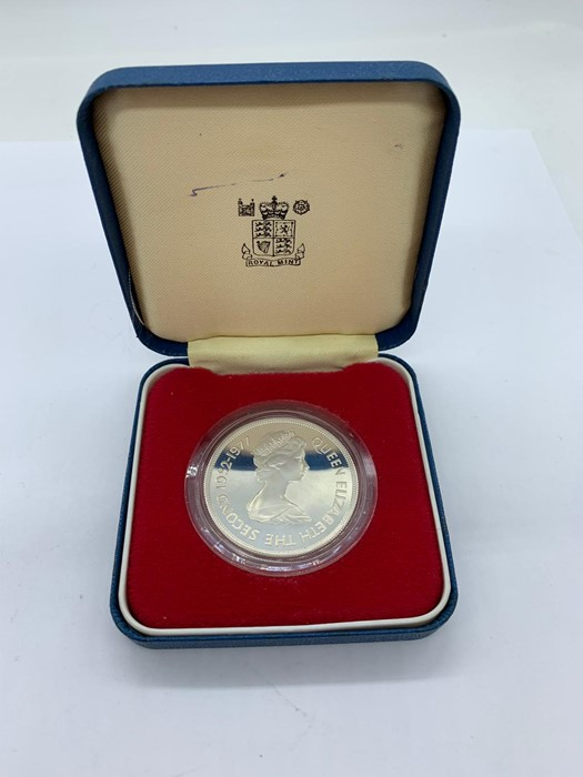 Lot 7 - A Falkland Islands silver proof 1977 Fifty Pence coin