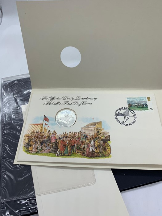 Lot 35 - The Official Derby Bicentenary Medallic First Day Cover, with silver proof medal. 1979
