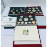 Lot 45 - Three United Kingdom Proof Sets for 1985, 1998 and 1999.