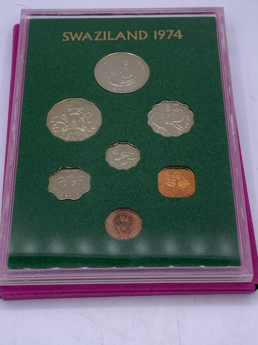 Lot 57 - Commonwealth coin proof set for Swaziland 1974