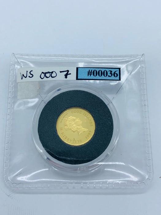 Lot 13 - A 1997 Princess Diana of Wales 5 Dollar gold coin Cook Islands
