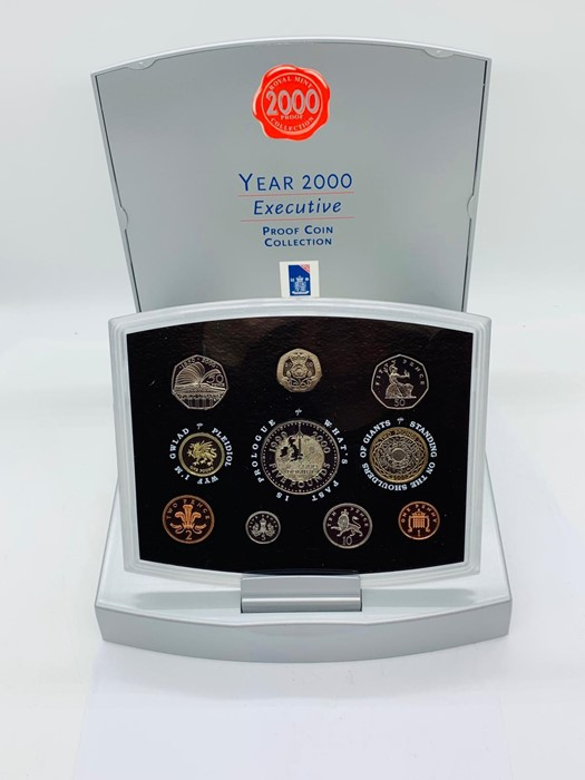 Lot 22 - British Royal Mint Year 2000 Executive Proof coin set