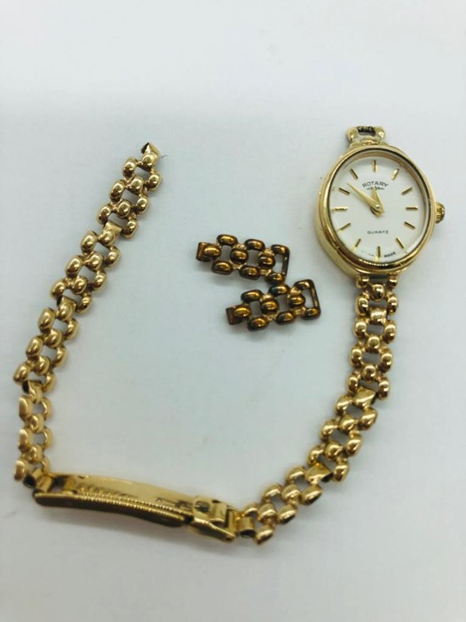 Lot 46 - A ladies 9ct gold watch weighing 9.8g strap in case (AF)