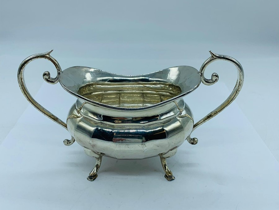 Lot 15 - A Silver sugar bowl, hallmarked for the year 1934-35