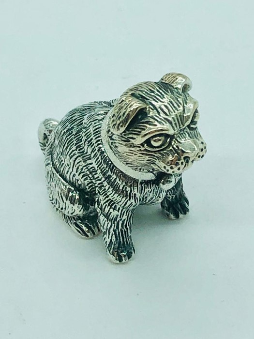 Lot 41 - A sterling silver figure of a dog