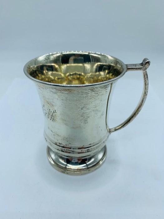 Lot 12 - A small hallmarked silver cup, hallmarked Birmingham 1963-64
