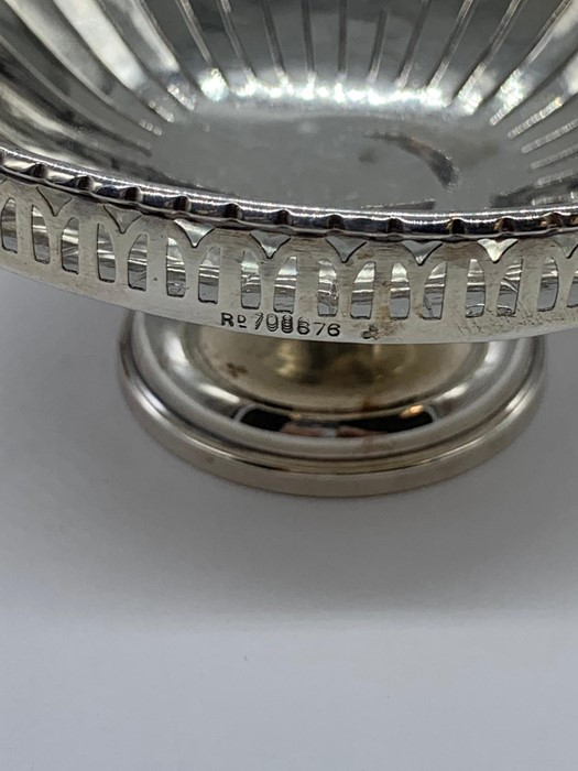 Lot 4 - A Pair of silver Bonbon dishes, hallmarked Birmingham 1928-29.