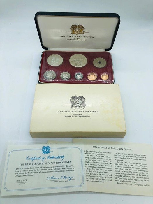 Lot 106 - A First Coinage of Papua New Guinea, proof set