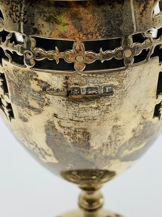 Lot 20 - A silver hallmarked censor, makers mark ESB