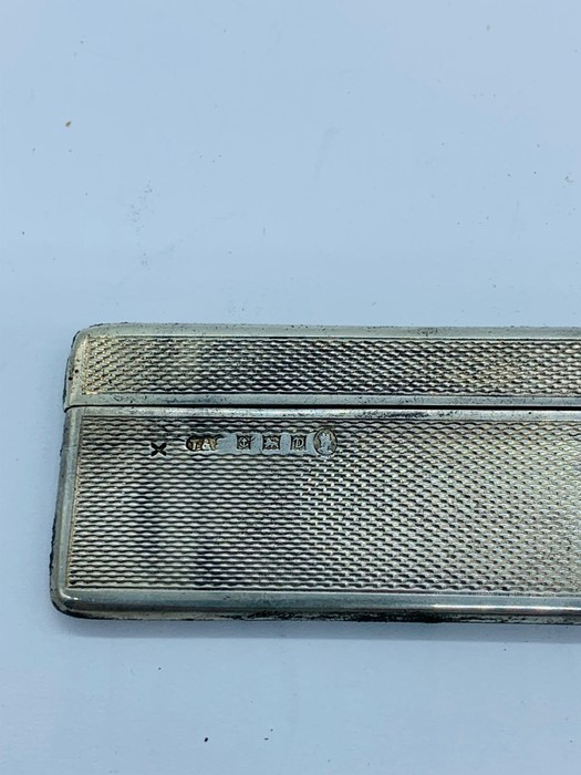 Lot 18 - A silver hallmarked comb holder with comb