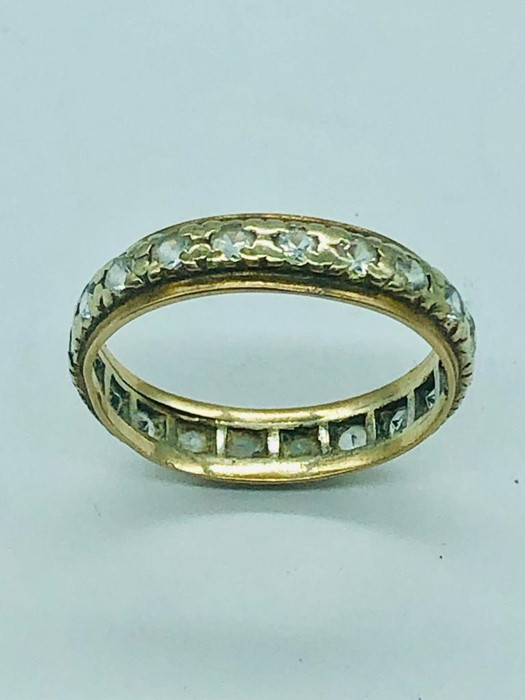 Lot 40 - A 9ct gold Eternity ring (2g)