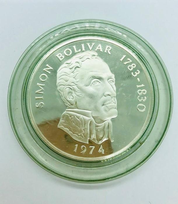 Lot 119 - A Republica De Panama silver 20 Balboas (130g) coin.