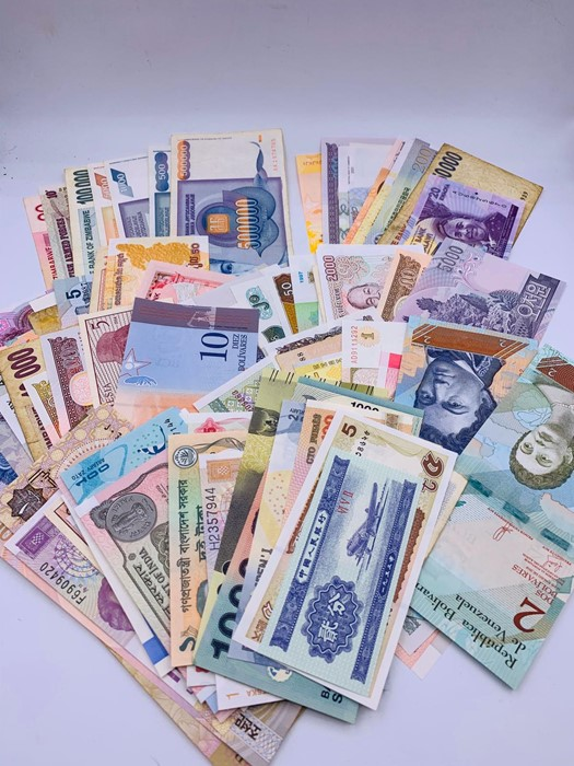 Lot 130 - One Hundred Worldwide Bank Notes mixed condition.
