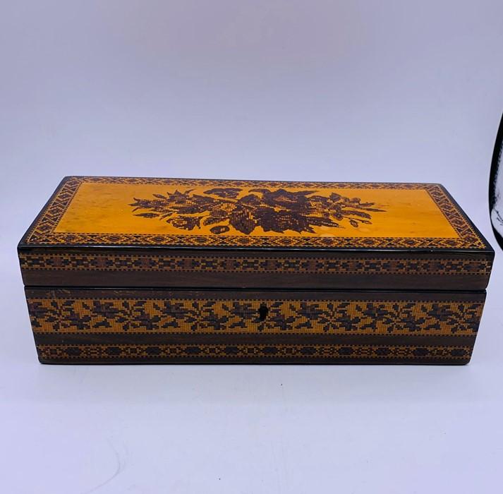 Lot 163 - A Victorian 1850's inlaid glove box