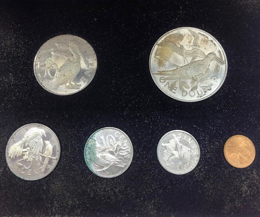 Lot 101 - First Official Coinage of the British Virgin Islands 1973 including a silver dollar
