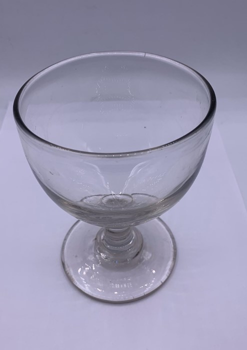 Lot 146 - A Rummer with a ogee bowl on a plain steam a d blade knop collar