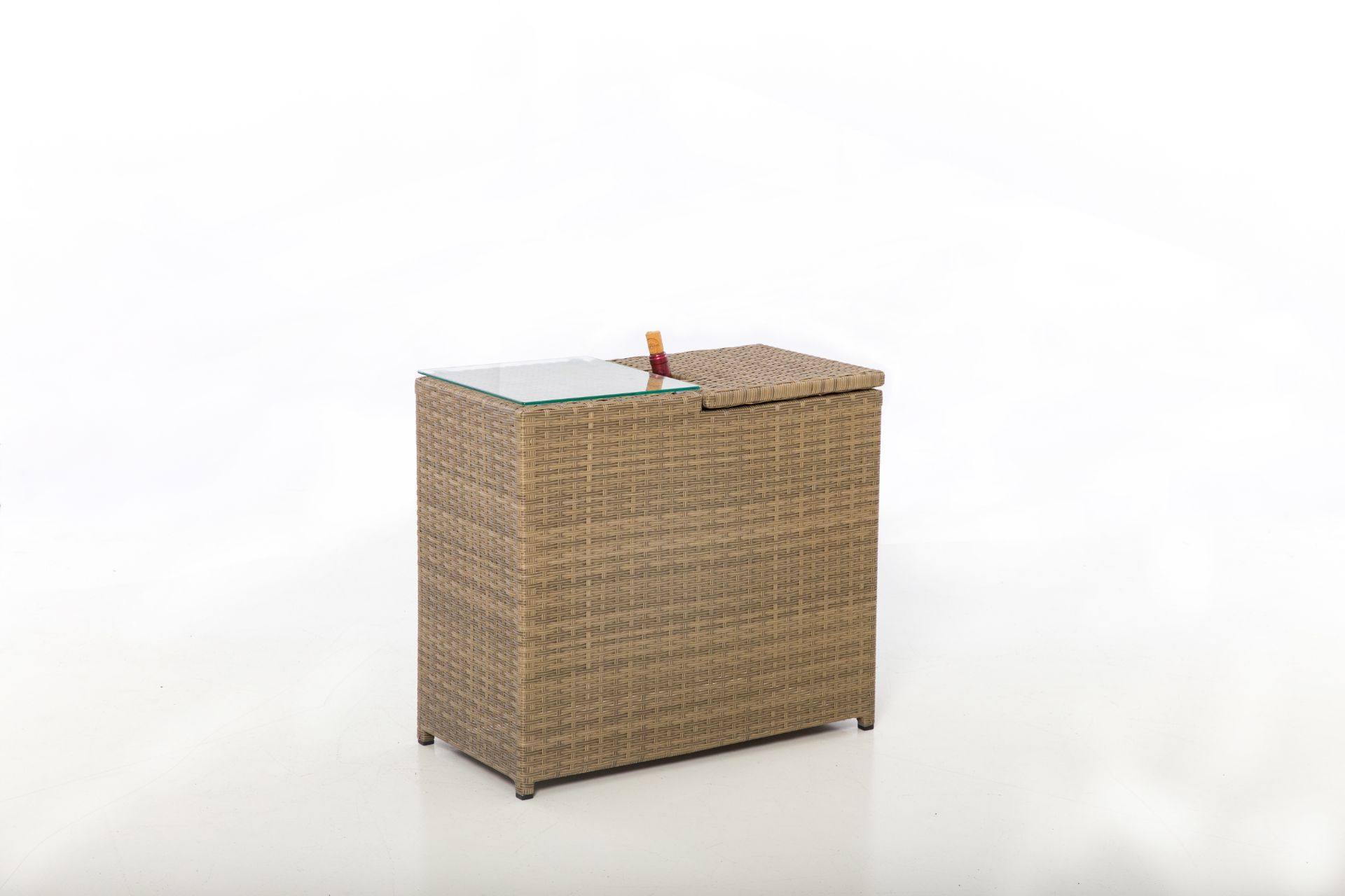 Lot 18 - Rattan Tuscany Ice Bucket Side Table *BRAND NEW*