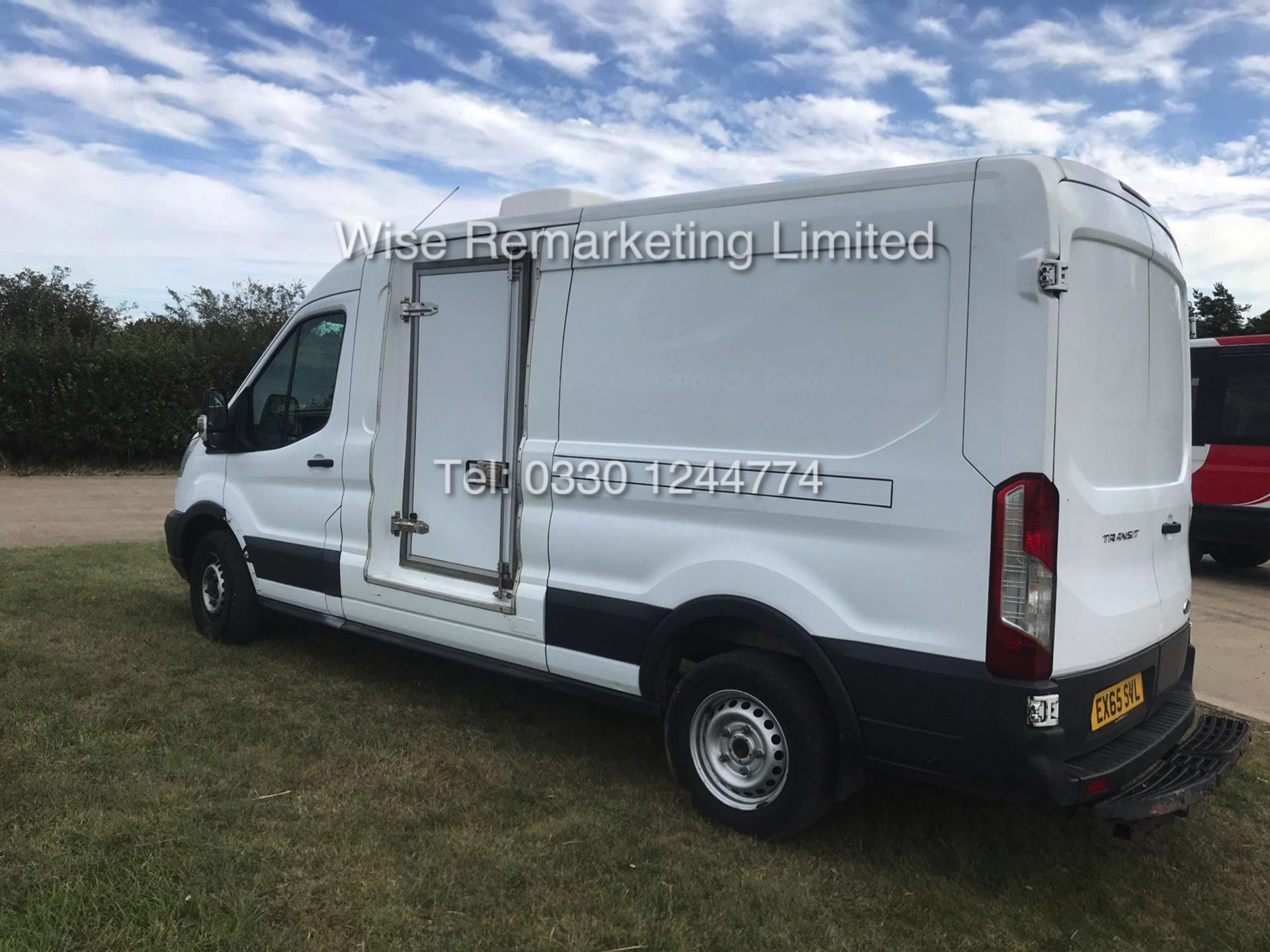 Lot 18 - FORD TRANSIT 350 2.2 LWB FRIDGE VAN (2015 65 REG) GAH UNIT WITH 2 COMPARTMENTS - 1 KEEPER FROM NEW