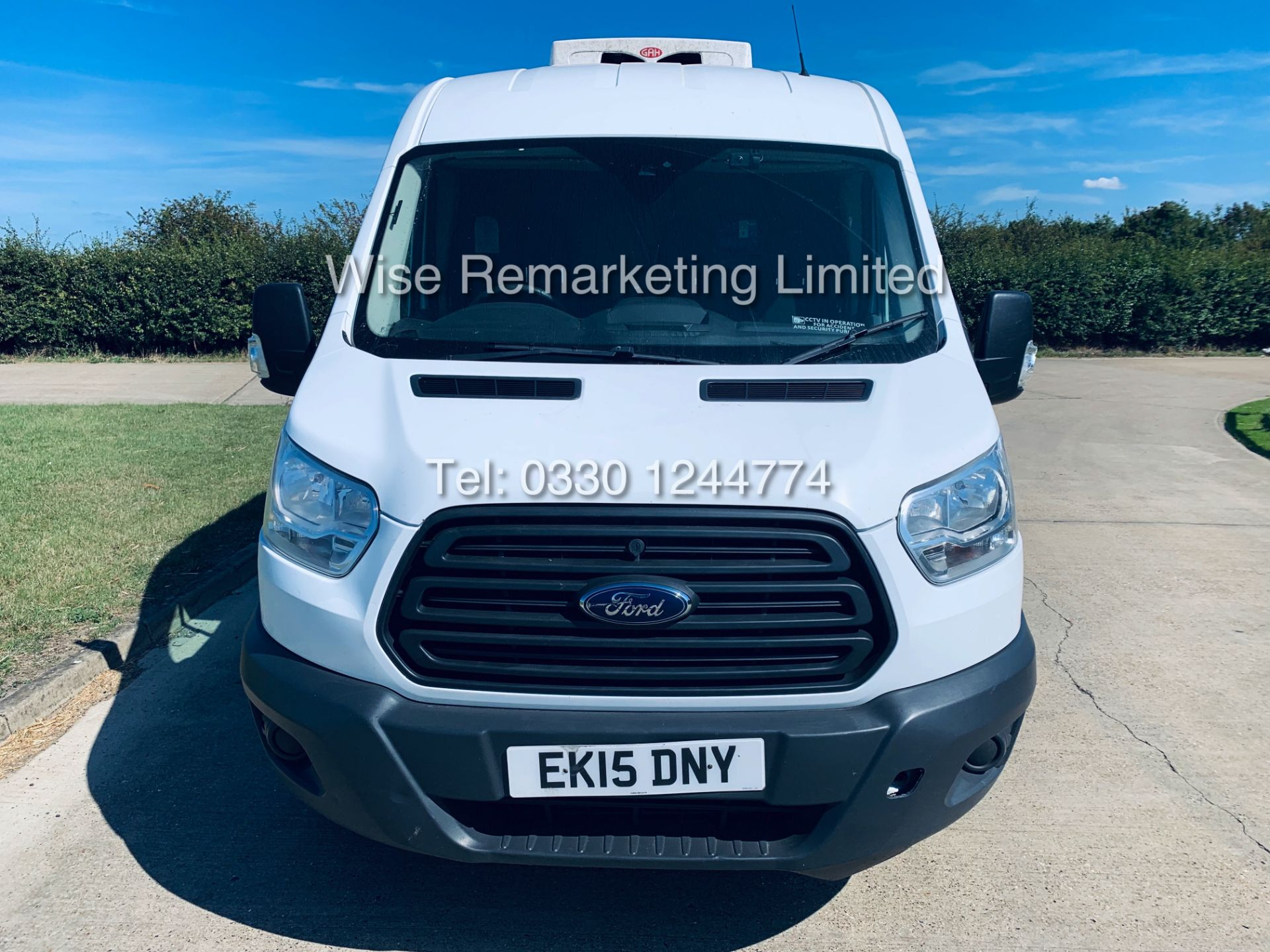 Lot 12 - ***RESERVE MET*** FORD TRANSIT 350 LWB 2.2 FRIDGE VAN (2015) GAH UNIT *SAT NAV***SAVE 20% NO VAT**