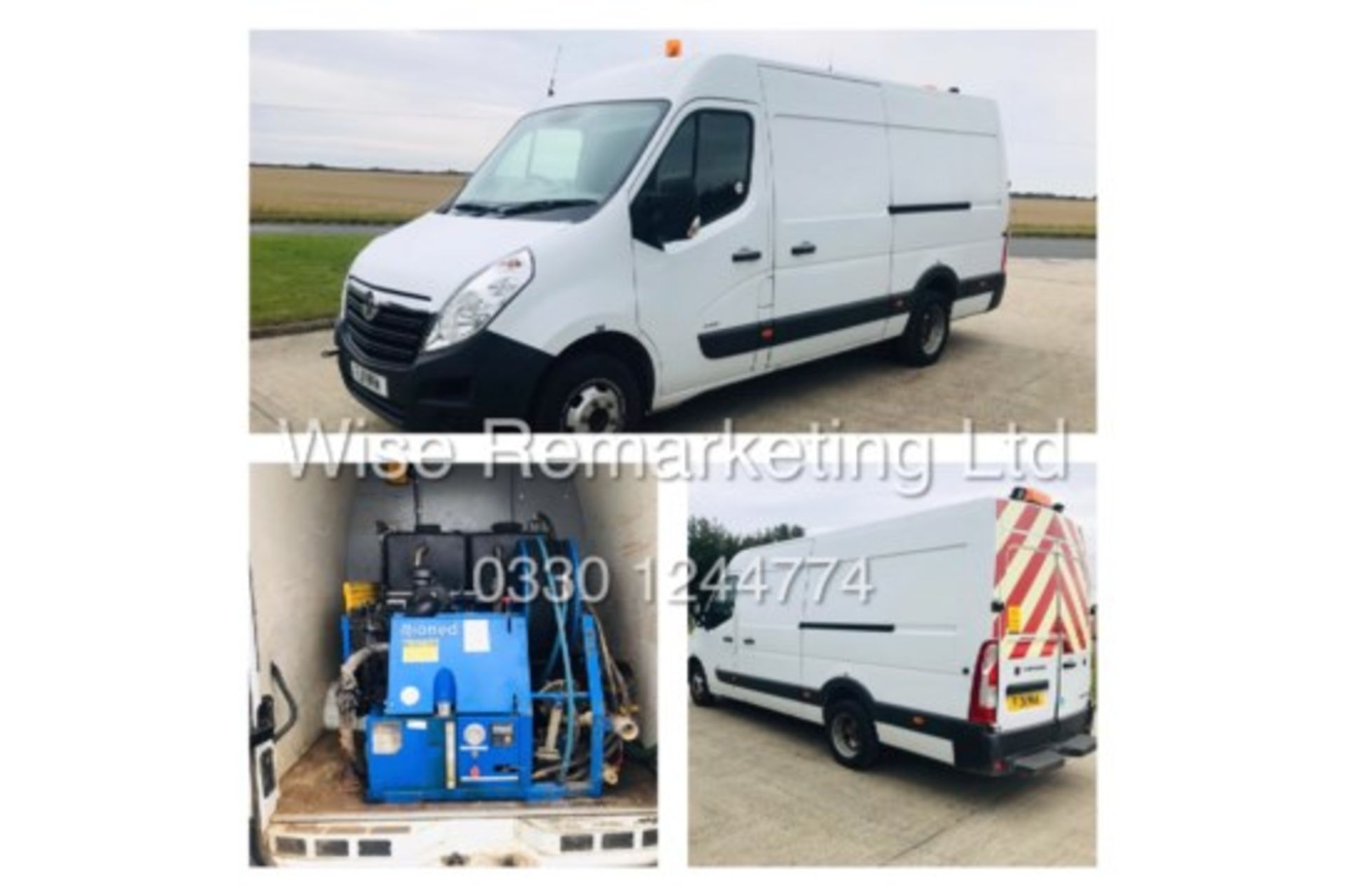 Lot 4 - ***RESERVE MET*** VAUXHALL MOVANO L3 H2 2.3 CDTI 11REG *VERY RARE RIONED HIGH PRESSURE JETTING UNIT