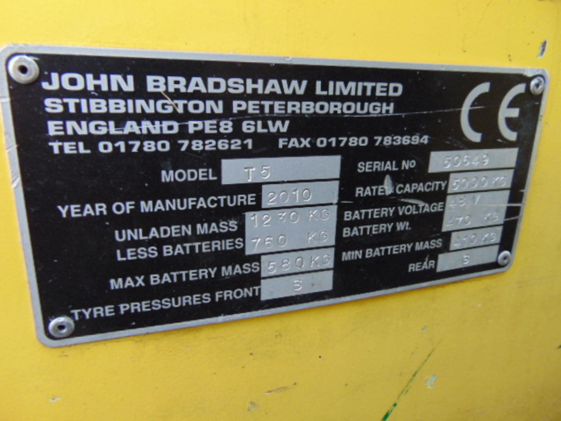 Lot 7 - 2010 Bradshaw T5 Electric Tow Tractor