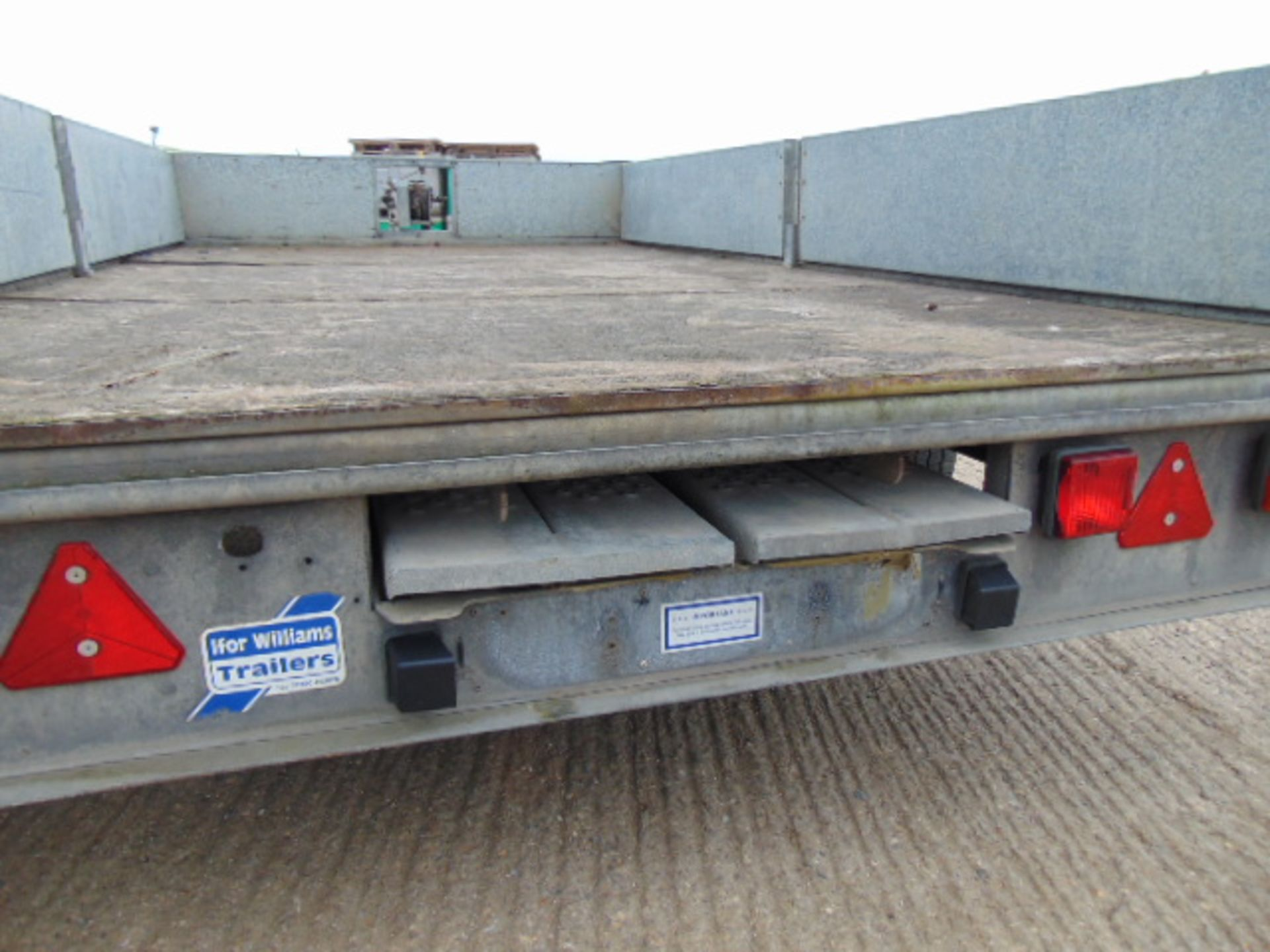 Lot 19 - Ifor Williams LM126G Flat Bed Trailer c/w Loading Ramps & Winch