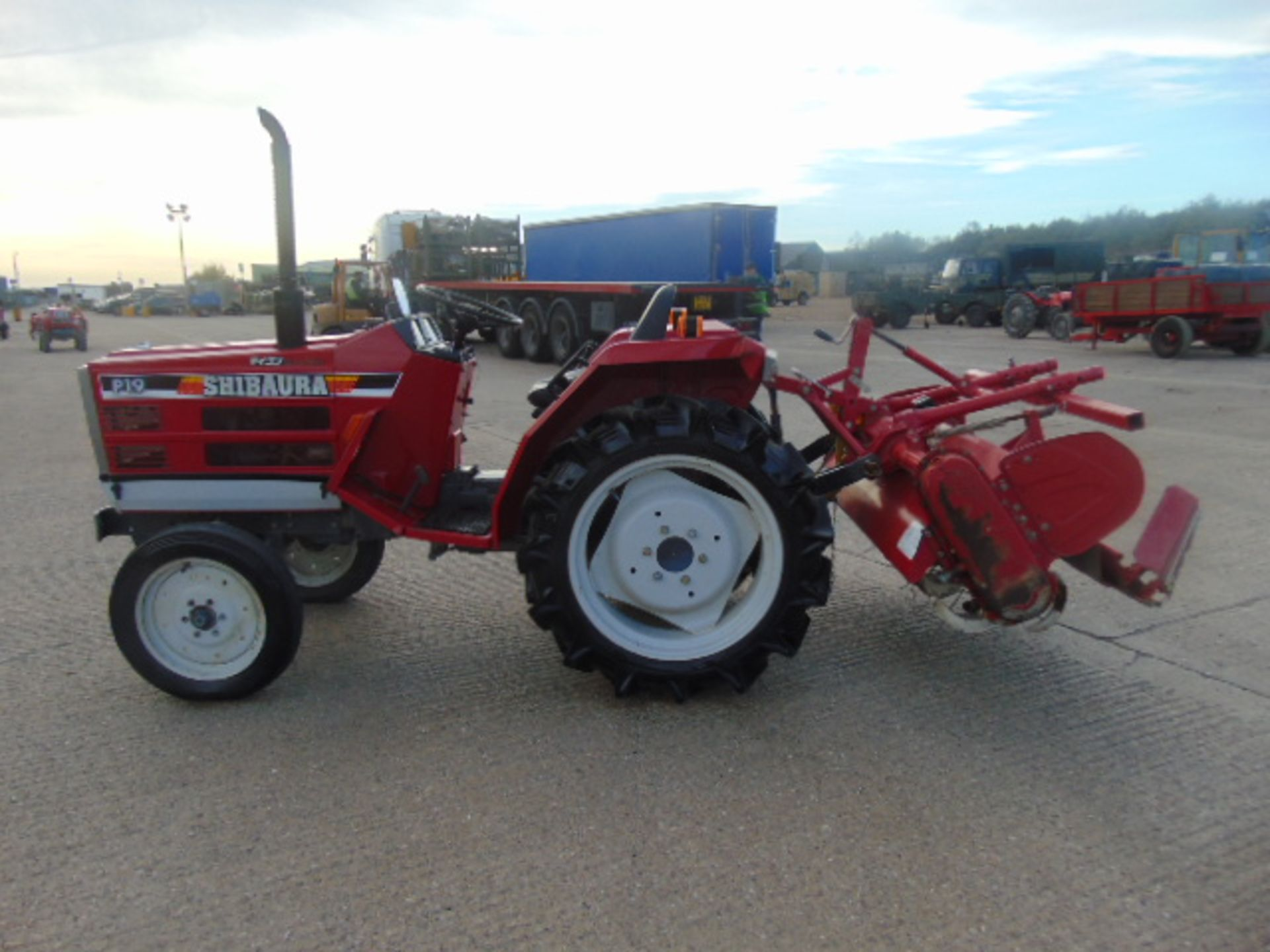 Lot 36 - Shibaura P19 Stiger Special Compact Tractor c/w Rotovator