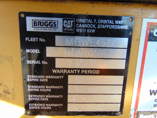 Lot 6 - 2009 CAT NOL10NF Low Level Electric Order Picker