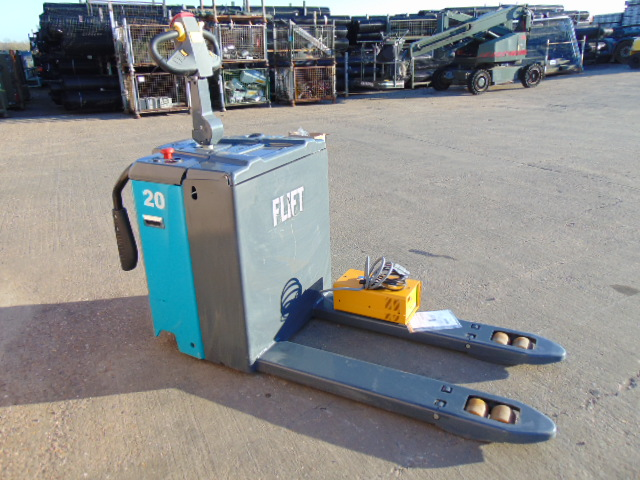 Lot 13 - 2018 FLIFT FBT20 2000Kg Ride on On Pallet Truck C/W Charger ONLY 190 Hours!