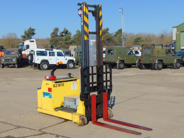 Lot 12 - Still EGG1500/5 Electric Pedestrian High Reach Pallet Stacker c/w Charger