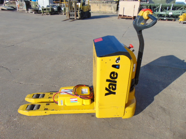 Lot 10 - 2012 Yale MP20L 2000Kg Electric Walk Behind Pallet Truck C/W Charger