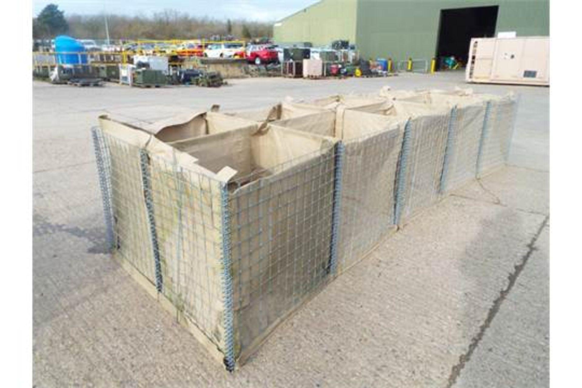 Lot 46 - 5m x 1.6m x 1m Hesco Mil 31311 10 Section Defensive Barrier