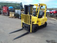 Container Spec Hyster H2.50XM Counter Balance Diesel Forklift C/W Side Shift & Full 3 Lift Mast