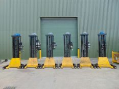 Set of 6 Somers 5T Mobile Column Vehicle Lifts (5T Per Column)