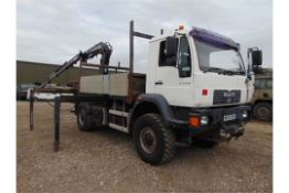 Man LE18.220 4x4 Dropside complete with Atlas 120.2E Crane and H14P SuperWinch