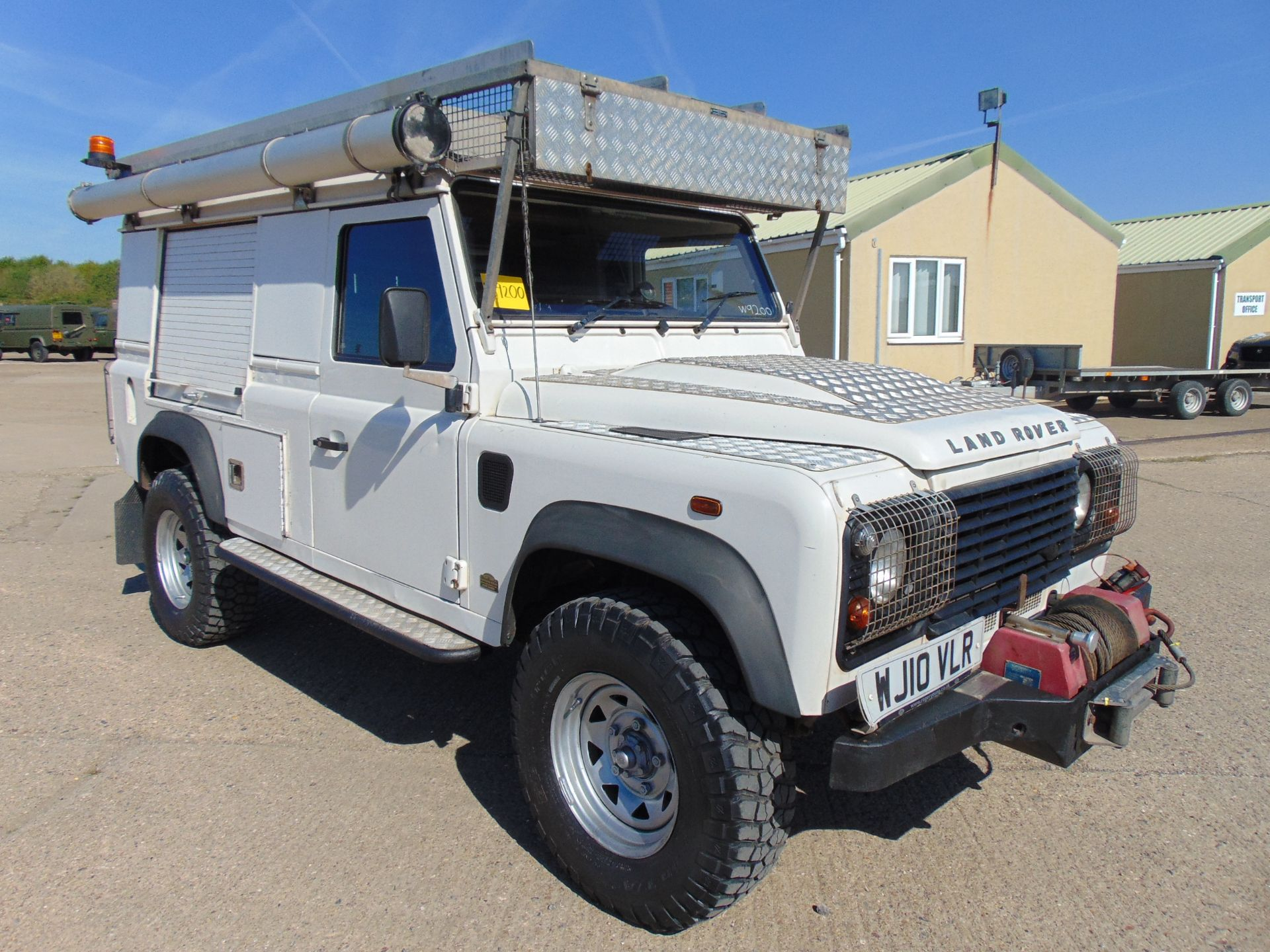 Lot 22 - Land Rover Defender 110 Puma Hardtop 4x4 Special Utility (Mobile Workshop) complete with Winch