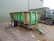 Twin Axle Agricutural Tipping Trailer