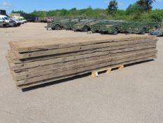 8 x 5m Hardwood Bog Mats for Excavators / Diggers etc
