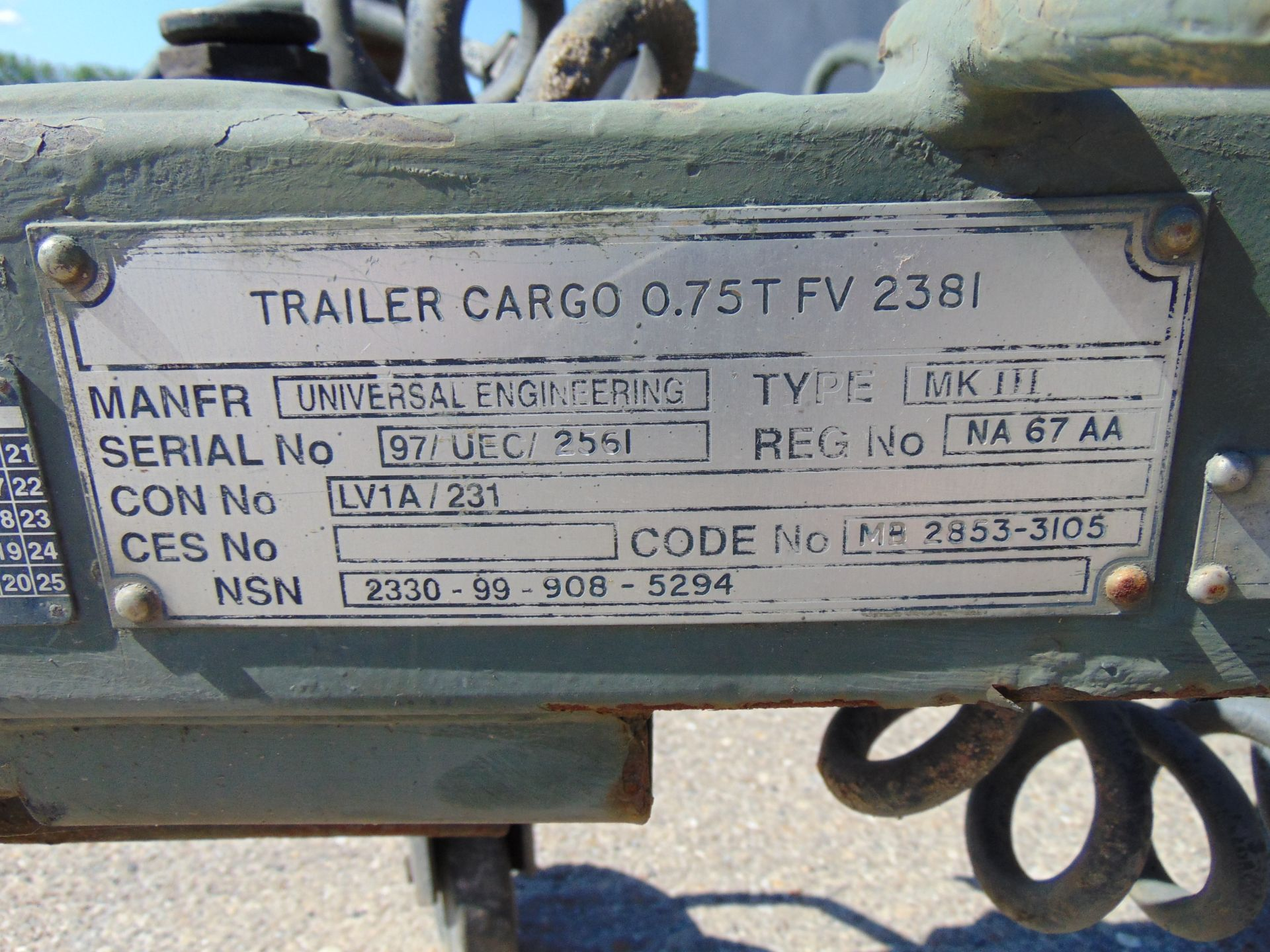 Lot 17 - Ex Reserve Sankey 3/4 ton widetrack trailer