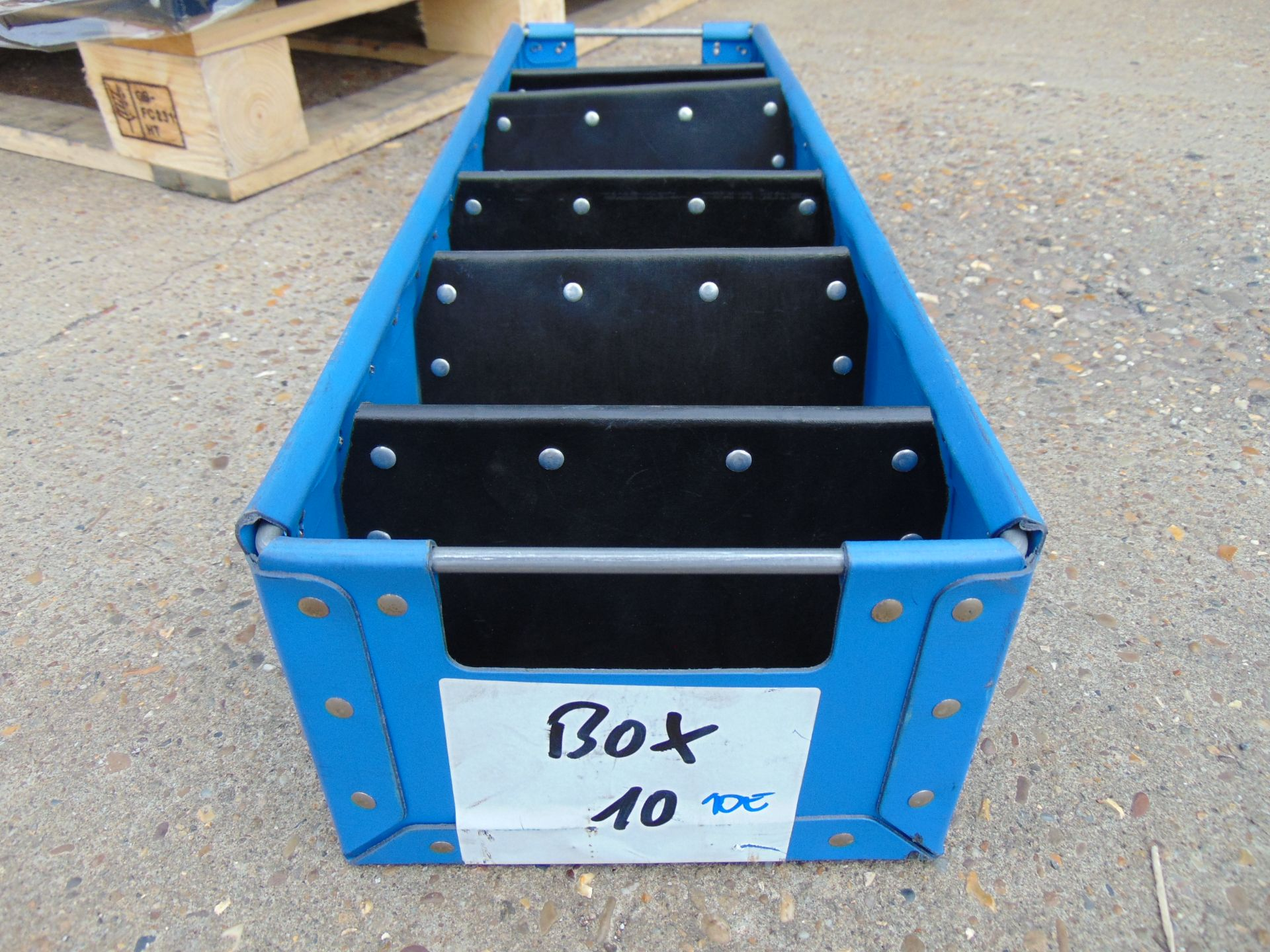 Lot 46 - 120 x Heavy Duty Tote Storage Boxes with Dividers