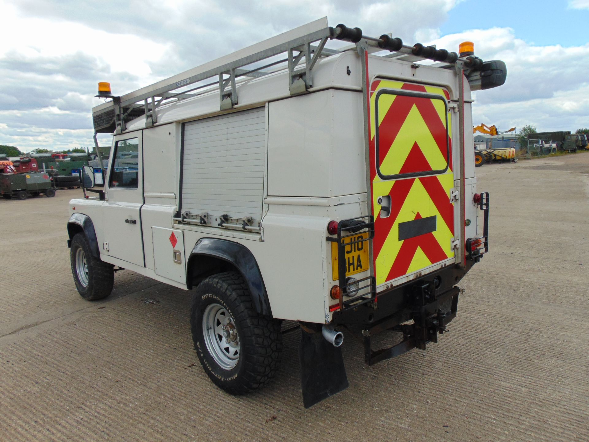 Lot 6 - Land Rover Defender 110 Puma Hardtop 4x4 Special Utility (Mobile Workshop) complete with Winch