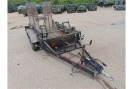 Indespension 2700Kg Twin Axle Galvanised Plant Trailer C/W Track Locks and Rear Ramp