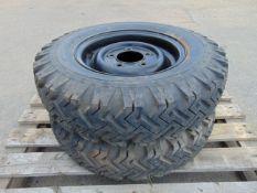 2 x Goodyear 7.50-16 Hi-Miler Xtra Grip Tyres C/W 5 Stud Rims