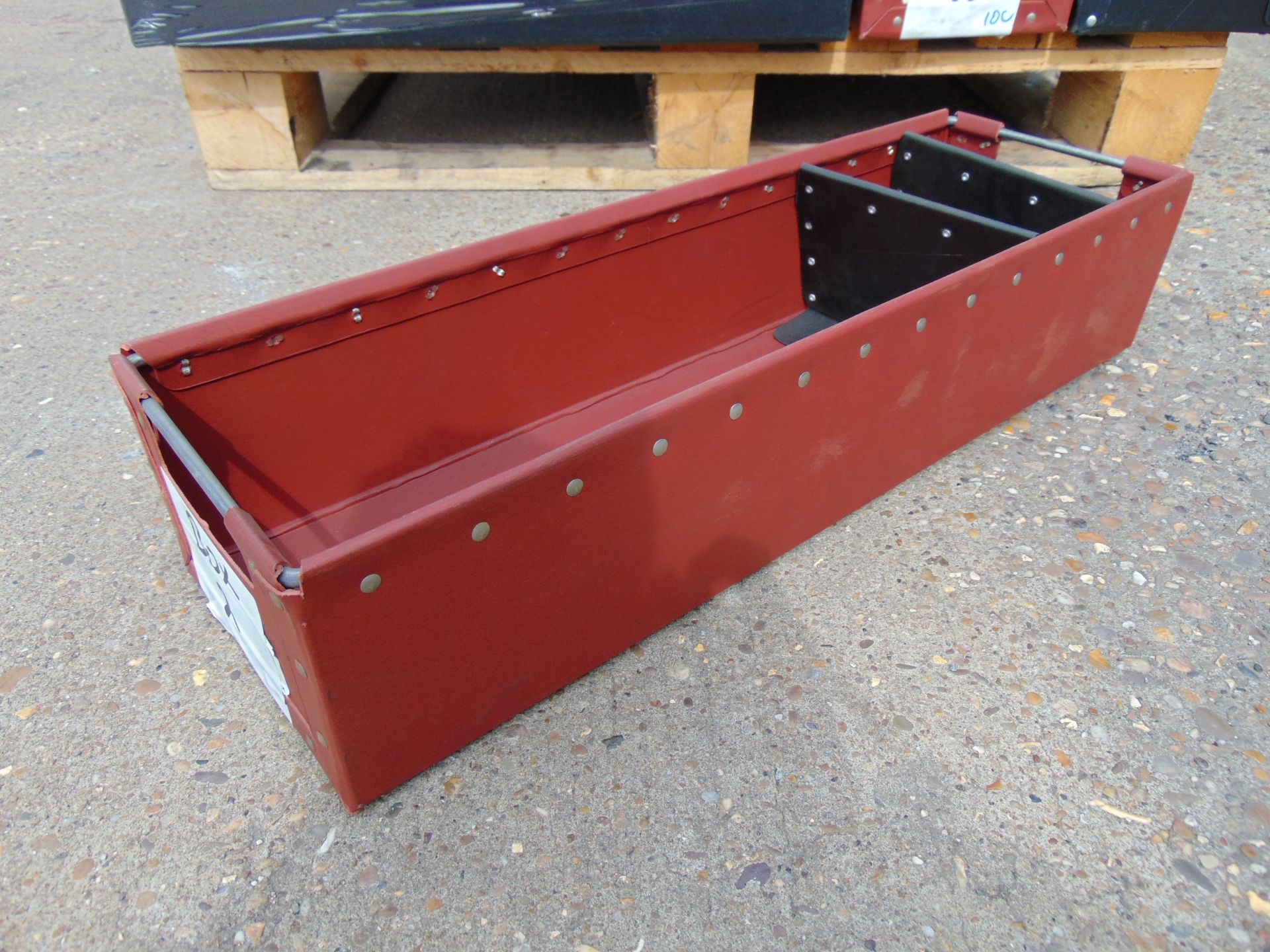 Lot 43 - 120 x Heavy Duty Tote Storage Boxes with Dividers