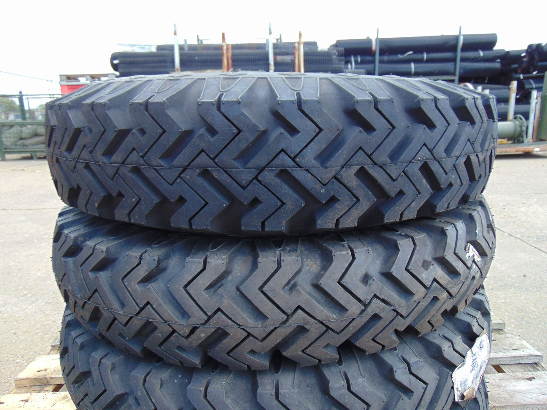 Lot 22 - 4 x Goodyear 6.50-16 Hi-Miler Xtra Grip Tyres