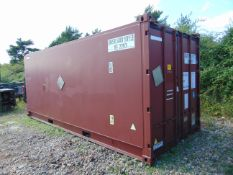 20ft ISO Shipping Container Open-top-variant with Swiveling Rooftop Crossbeam